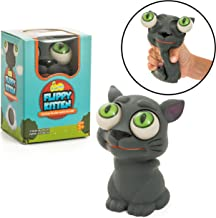 IPIDIPI TOYS Flippy Kitten Eye Popping Cat - Large Squishy Squeeze Toy for Stress Reduction for Boys and Girls - Great for Kids with Autism and ADHD