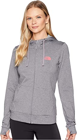 668d4eb90ef4 The north face lite weight full zip hoodie cabaret pink heather tnf ...