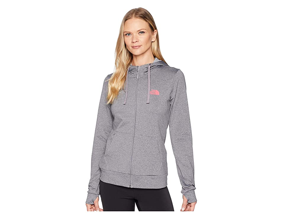 The North Face Fave Lite LFC Full Zip (TNF Medium Grey Heather/Atomic Pink) Women