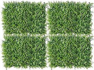 Valo Concept 4 Piezas Follaje Artificial Muro o Pared – Decoración de bardas Jardín Verde Vertical para Exterior o Interio...