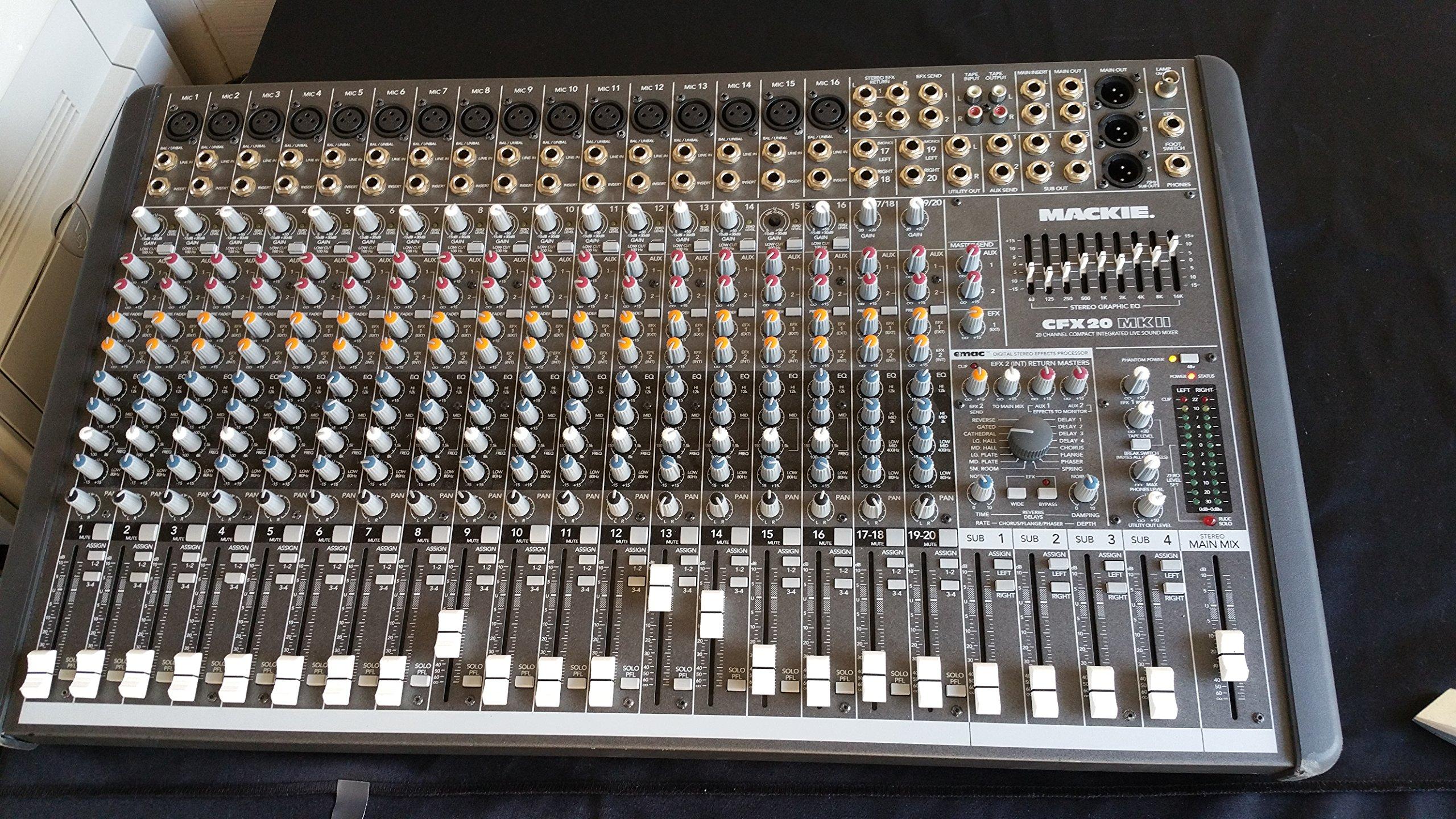 Mixer 1//4 Ply Economy Tuffbox Light Duty Road Case Fits Mackie CFX 20 Mkii Cfx20 Mkii