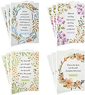 Hallmark DaySpring Assorted Religious Sympathy Cards, Floral Wreaths (12 Cards with Envelopes)