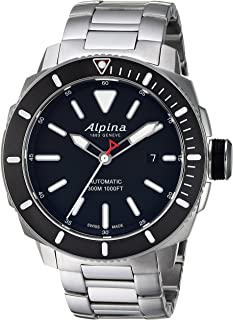 Alpina Men's Seastrong Swiss-Automatic Diving Watch with Stainless-Steel Strap, Silver, 0.87 (Model: AL-525LBG4V6B)