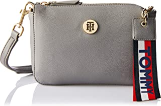 Tommy Hilfiger Women's Charming Crossover Flap Bag, Silver, One Size