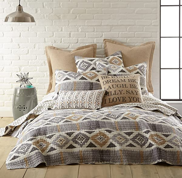 Levtex Santa Fe King Quilt Grey Gold