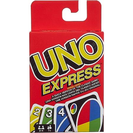 UNO Express, Juego de Mesa Familiar de 2 a 4 Jugadores