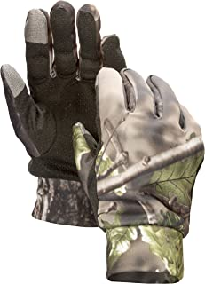 North Mountain Gear - Hunting Gloves for Men Camo - Lightweight with Smartphone Compatible Fingers and Sure Grip Palm