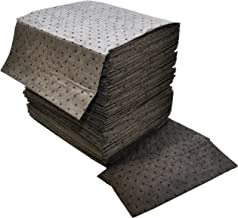 """Spilfyter DB-75 Gray Universal Sorbent MRO Double Weight Absorbent Pad, 18"""" Length x 16"""" Width, Case of 100"""