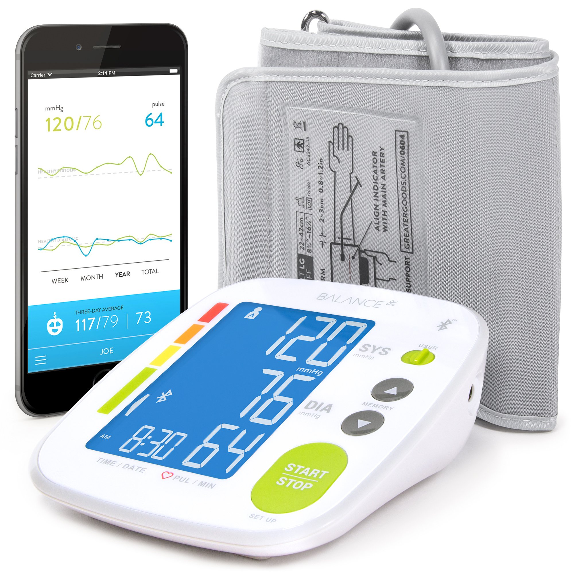 Bluetooth Blood Pressure Monitor GreaterGoods