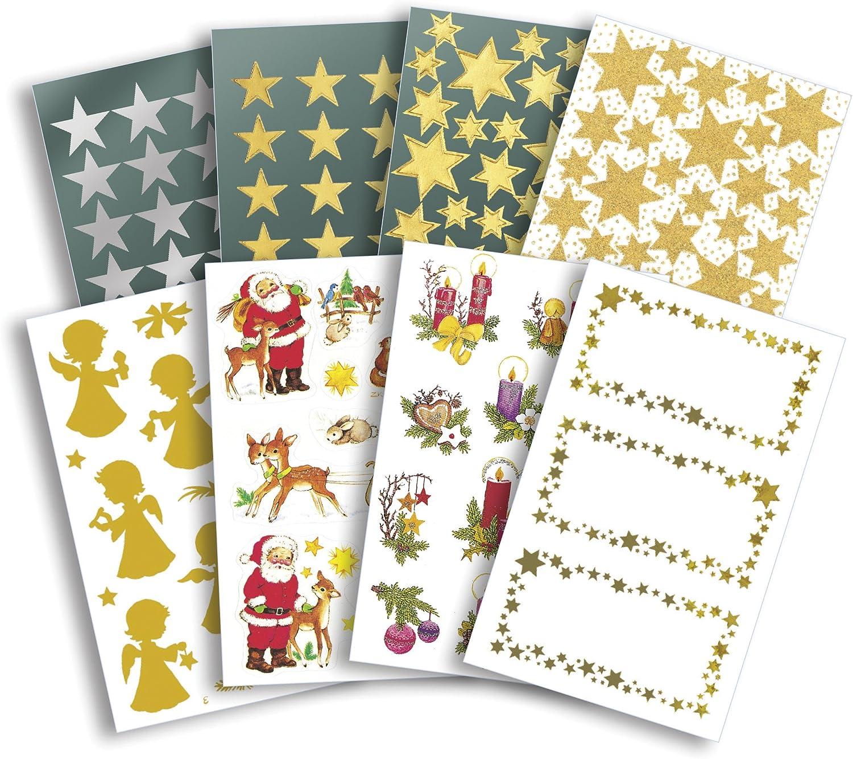 Avery Zweckform Season Sortiment Weihnachts-Sticker 80Pak Motive sortiert