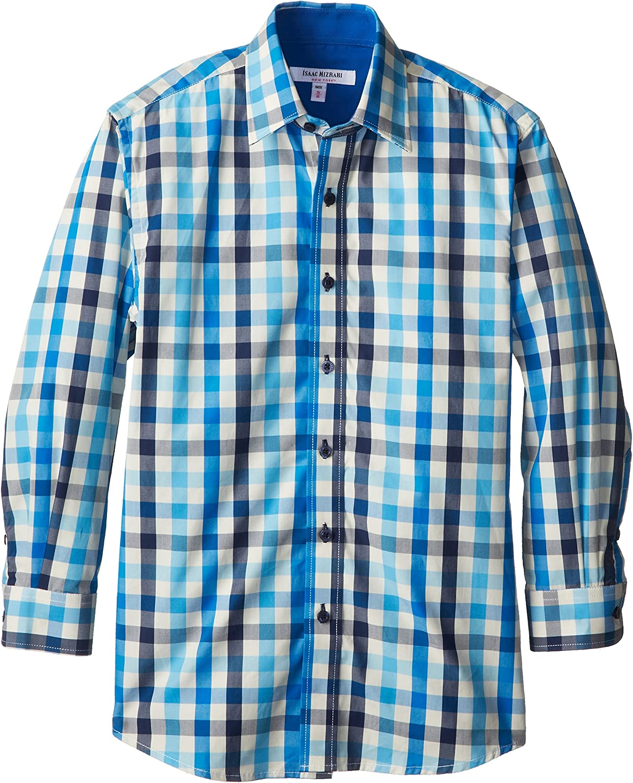 Isaac Mizrahi Big Boys' Bold Plaid Shirt