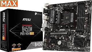 MSI ProSeries AMD Ryzen 2ND y 3ª generación AM4 M.2 USB 3 DDR4 D-Sub DVI HDMI Micro-ATX Placa Base (B450M Pro-VDH MAX)