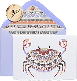 Papyrus Blank Cards with Envelopes, Crab (8-Count)