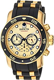 Invicta Men's 17566 Pro Diver 18k Gold Ion-Plated Stainless Steel Watch