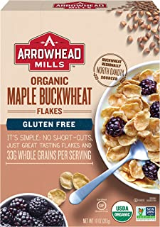 Arrowhead Mills Organic Gluten-Free Cereal, Maple Buckwheat Flakes, 10 oz. Box (Pack of 6)