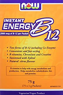 NOW B12 Instant Energy Packets 75/Box, 75 g