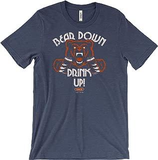 Smack Apparel Chicago Football Fans. Bear Down Drink Up! T-Shirt (Sm-5X)