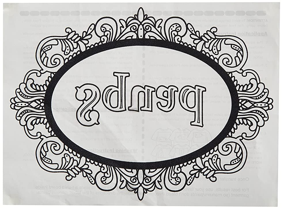Zendoodle Iron On Transfers Squad Adult Coloring Inspired