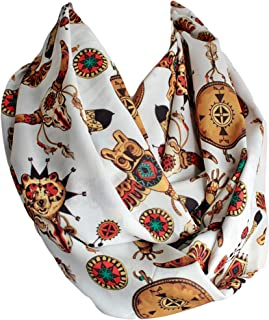 Etwoa's American Native Wild West Infinity Scarf Circle Scarf