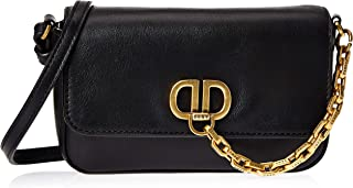 DKNY Women's Flap Bag, Black/Gold - R93HRD86