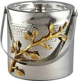 Elegance Golden Vine Ice Bucket, Silver/Gold