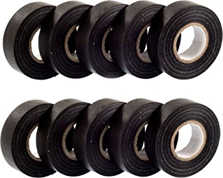 GTSE 10 rollos de cinta aislante eléctrica de PVC negro – 20 m x 19 mm – Paquete de 10 rollos premium – Cinta de alta calidad