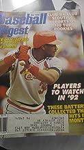 Baseball Digest Magazine - March 1992 - Felix Jose - St. Louis Cardinals