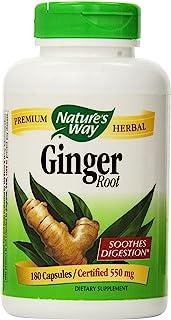 Nature'S Way - Ginger Root 550 Mg. 180 Vegetarian Capsules