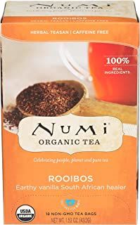 Numi Tea Red Mellow Bush Supplement Rooibos Tea, 18 ct