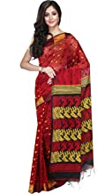 FabStyleIndia Women's Soft Handloom Silk Jamdani Dhakai Saree with Blouse Piece (RAJUSAREEJAMDANI002WB, Free Size)