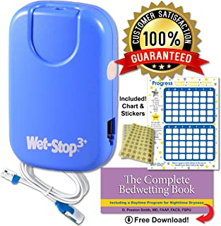 Wet Stop 3 Bedwetting Alarm (BLUE) 6 Alarms & Vibration, Enuresis Alarm, Incontinence, Toilet Training