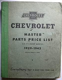 chevrolet master parts price list