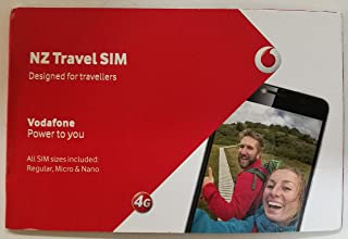 Vodafone NZ Travel SIM 4 GB & 200 mins & 200 Texts for 60 Days (New Zealand sim Card)