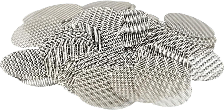 Aryva Rejilla Cedazo Filtro por Bong y Cachimba deMallatupida | Diámetro Ø = 25 mm | por Bongs y pequeñas Cazoletas Cabezal Narguile | Pack de 100 (25mm)