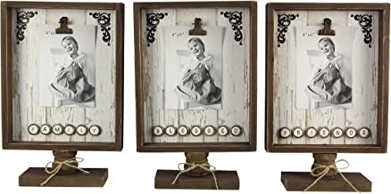 "Young's 8.5"" x 2.5"" x 13"" Inc Wood Picture Clip/Button Fonts"