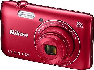 Nikon Coolpix A300 - Cámara Digital compacta de 20.1 MP (Pantalla LCD de 2.7 Sensor CCD Snapbridge VR Objetivo Nikkor USB WiFi) Rojo