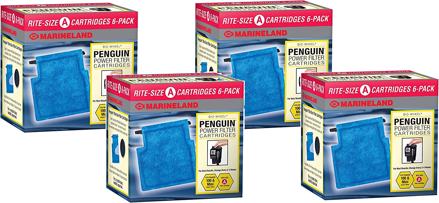 Marineland RiteSize Cartridge A  24Pack (4 Packages with 6 Filters Per Package)