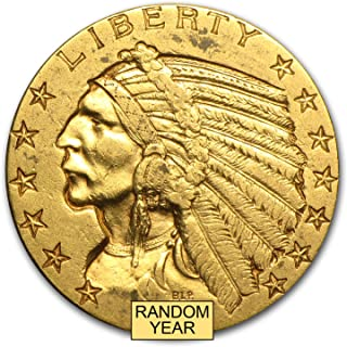 1908-1929 $5 Indian Gold Half Eagle XF (Random Year) G$5 Extremely Fine