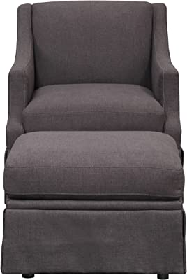 Awesome Amazon Com Emerald Home Mckinley Charcoal Gray Accent Chair Inzonedesignstudio Interior Chair Design Inzonedesignstudiocom