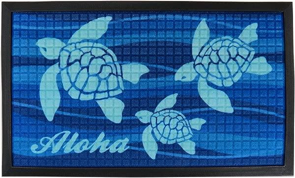 KC 夏威夷 Aloha Honu 热带门垫 30X17 75 英寸
