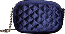 Audrey Quilted Velvet Shoulder Bag