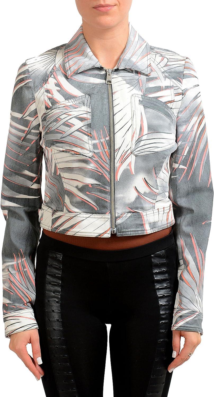 Just Cavalli Multi-Color Denim Full Zip Women's Jean Jacket US S IT 40