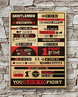 Huawuque Fight Club - Rules Poster Standard Size | 18-Inches by 24-Inches | Fight Club - Rules Posters Wall Poster Print