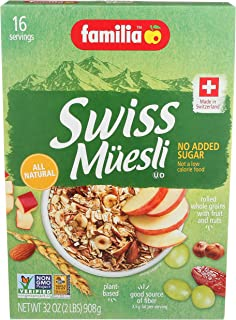 Familia Swiss Muesli Cereal, No Added Sugar, 32-Ounce Box (Pack of 6)