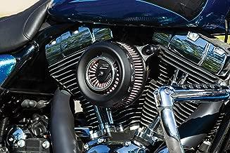 Kuryakyn 9241 Motorcycle Air Cleaner/Filter Component: Crusher Crusader Air Cleaner Trim for 1999-2017 Harley-Davidson Motorcycles, Satin Black