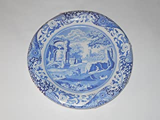 Spode Blue Italian Coated Paper Dinner Plates 8 count