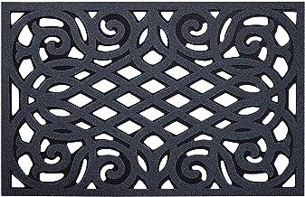 Nicoman Non-Slip Barrier Doormat Eco-Friendly Scrape Outdoor Door Mat 75x45cm (30''x18''), Rubber, Grey (Drainage), 75x44c...