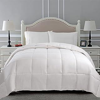 Superior Classic All-Season Down Alternative Comforter with Baffle Box Construction, Twin, White