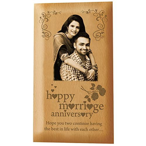 Presto Personalised Anniversary Gift | BirtHDay Gift | Valentine's Day Gift Wooden Photo Plaque By Engraving
