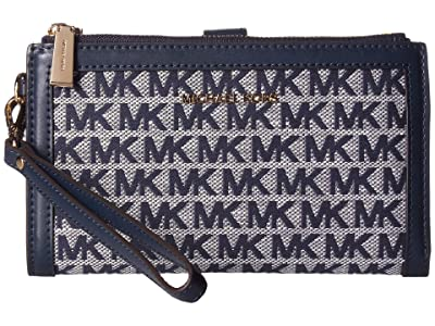 MICHAEL Michael Kors Jet Set Double Zip Wristlet (Ivory Multi) Handbags